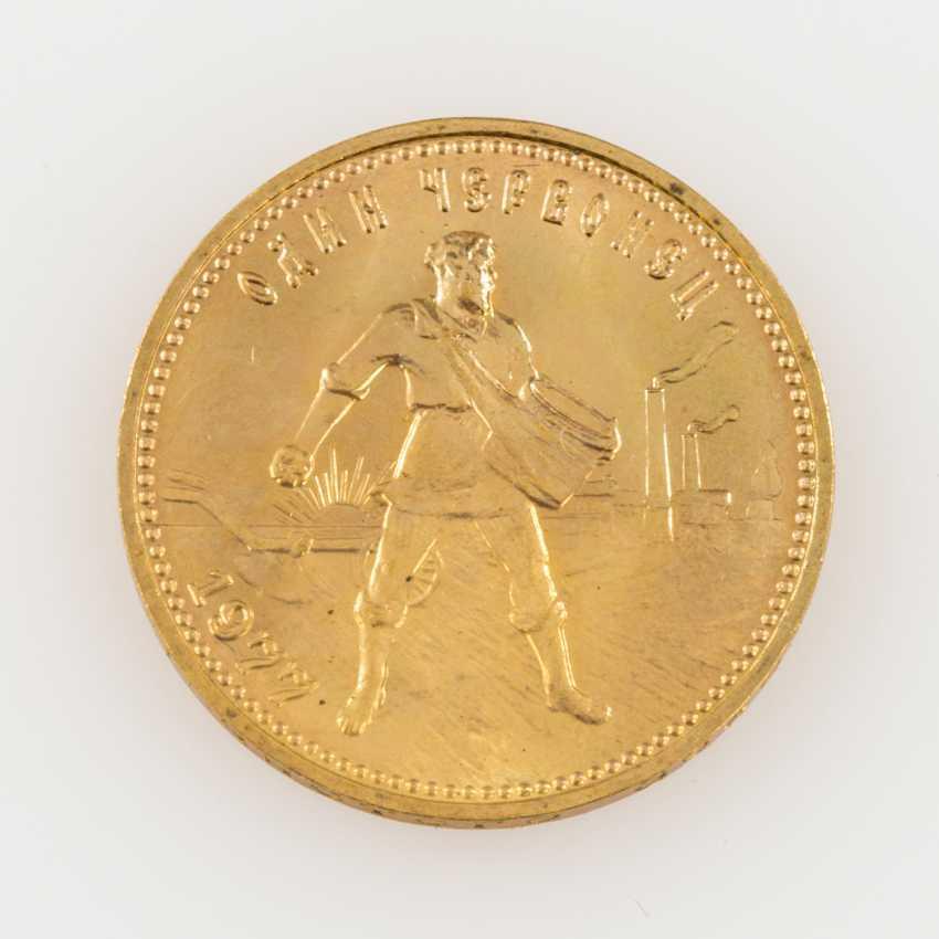 Russland /GOLD - 10 Rubel Tscherwonez 1977, - photo 1