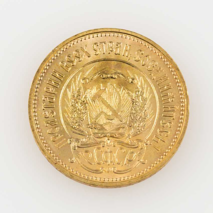 Russland /GOLD - 10 Rubel Tscherwonez 1977, - photo 2
