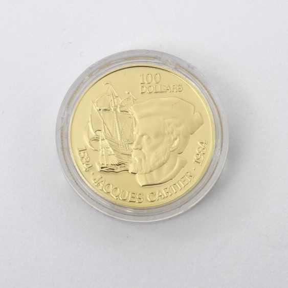 Kanada /GOLD - 100 Dollars 1984, Jacques Cartier, - photo 1