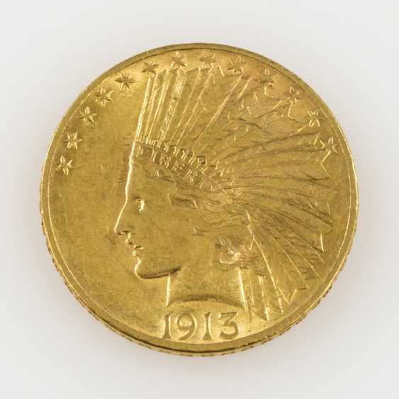 USA /GOLD - 10 Dollars 1913 Indian Head, - photo 1