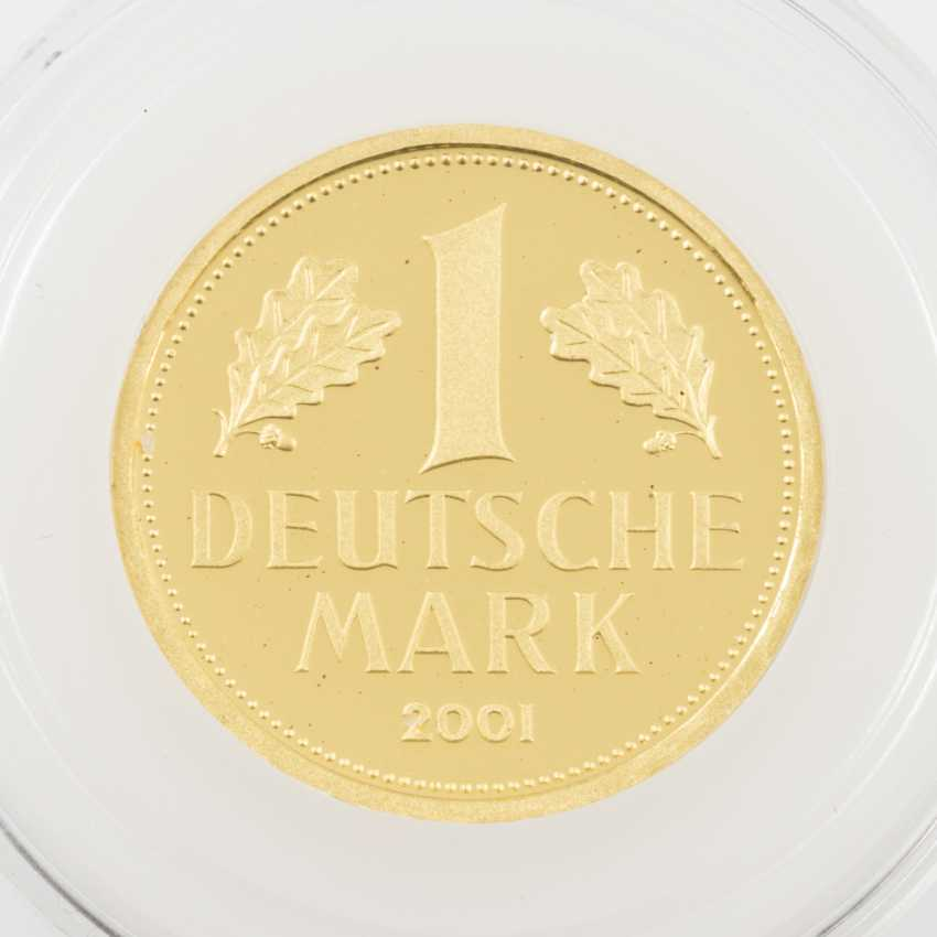 BRD /GOLD - 1 Deutsche Mark 2001 J, - photo 1