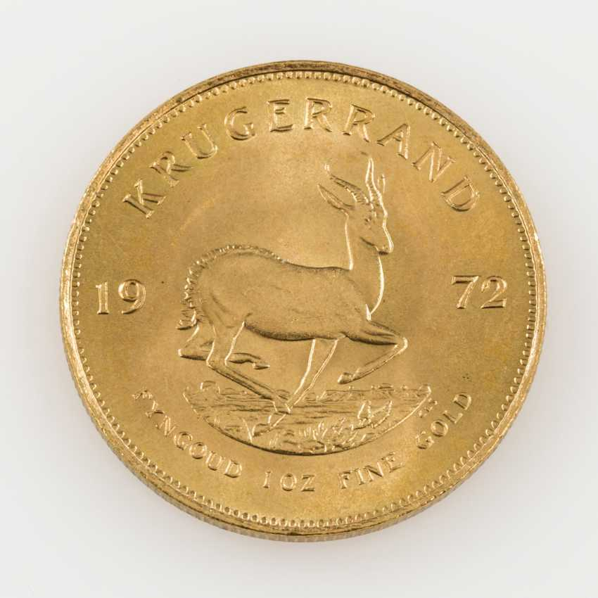 South Africa GOLD 1 oz Krugerrand 1972, - photo 2