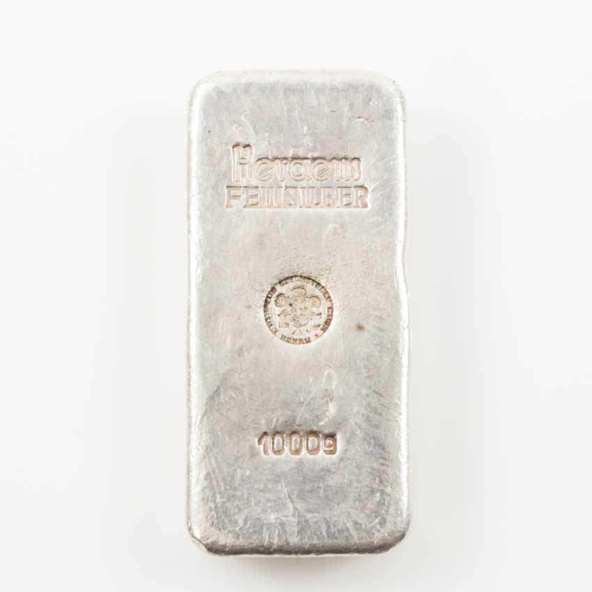 Fine silver bullion, 1000 g, - photo 1