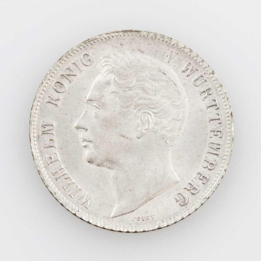 Württemberg 1 Gulden 1850, William I., AKS 85, - photo 1