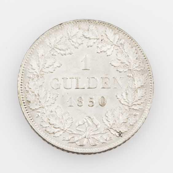 Württemberg 1 Gulden 1850, William I., AKS 85, - photo 2