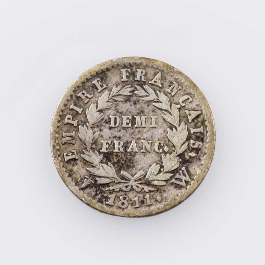 France, Napoleon, - 1 /2 Francs 1811 W (Lille), - photo 2