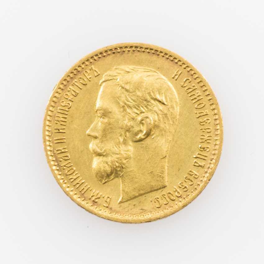 Russland /GOLD - 5 Rubel 1901 r, - photo 1