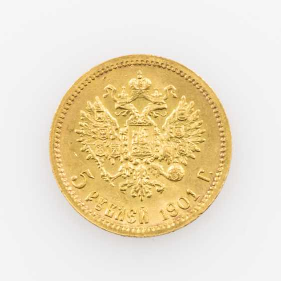 Russland /GOLD - 5 Rubel 1901 r, - photo 2