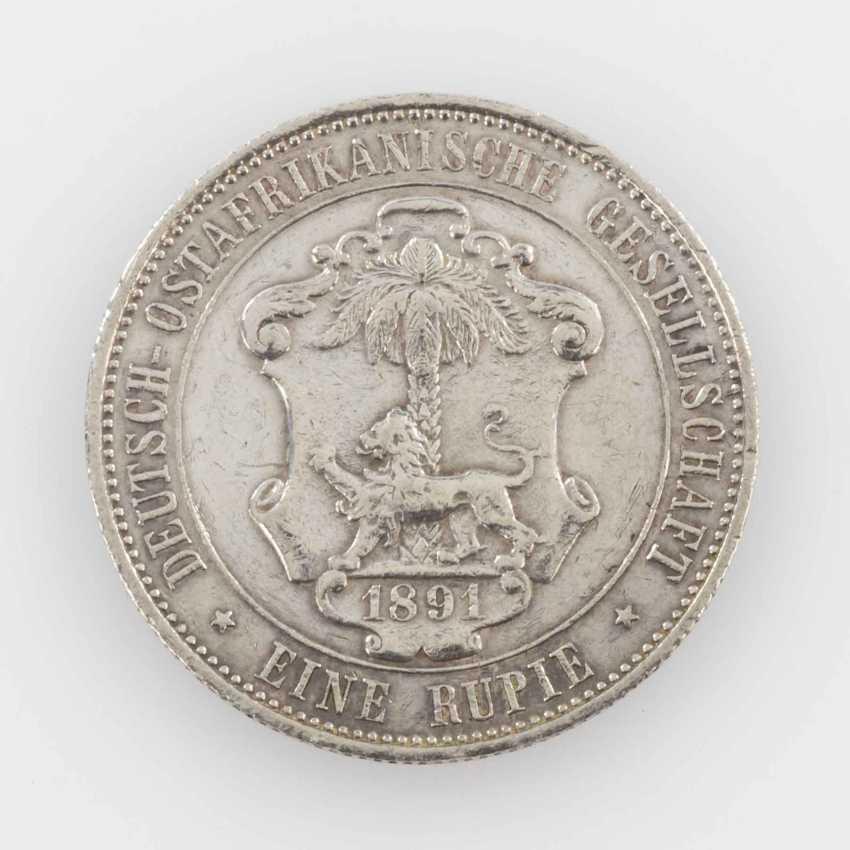 German East Africa - 1 rupee 1891, Guilelmus II, ss.-, - photo 1