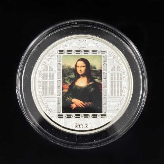 1 x Cook Islands - 20 Dollars 2016, Masterpieces of Art - Mona Lisa, stgl-spgl., verkapselt, - photo 1