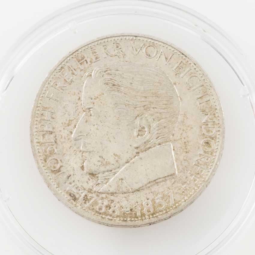 BRD 5 Deutsche Mark, Eichendorff, 1957 J, - photo 1