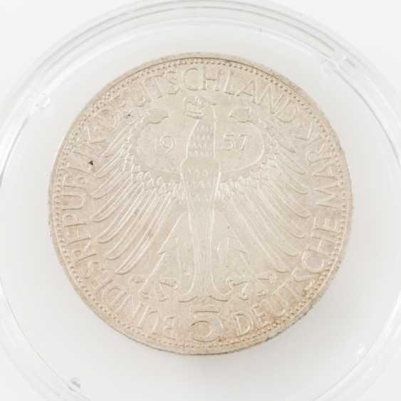 BRD 5 Deutsche Mark, Eichendorff, 1957 J, - photo 2