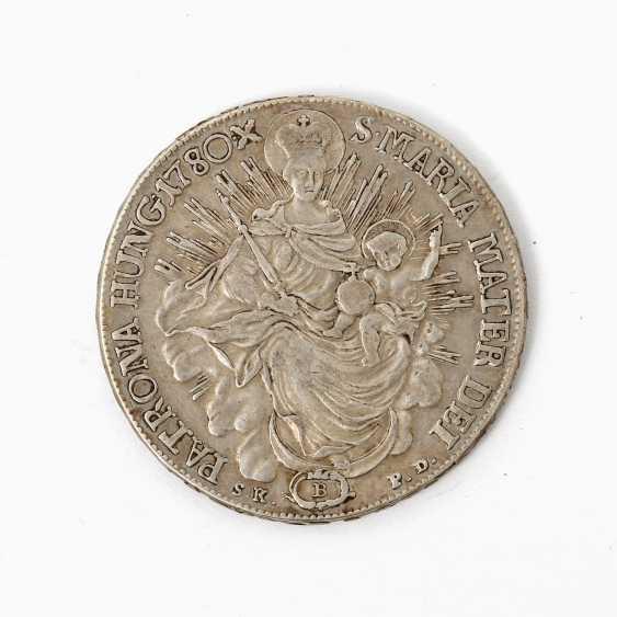 Habsburg - 1 Taler 1780 /B, Maria Theresia, ss., Patina, - photo 2