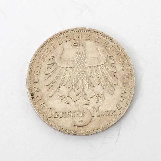 BRD 5 Deutsche Mark 1955 F, v. Schiller, - photo 1