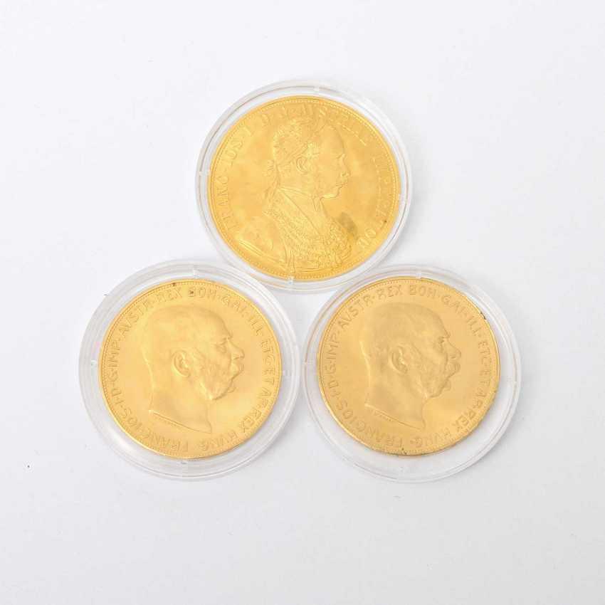 Österreich /GOLD - KonvoluTiefe: 2 x 100 Kronen 1915 NP, - photo 1