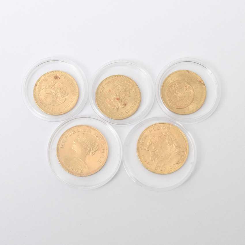Chile und Mexiko /GOLD - KonvoluTiefe: 2 x 100 Chile Pesos 1947 /1962, - photo 1