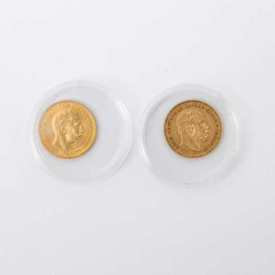Preussen /GOLD - KonvoluTiefe: 1 x 20 Mark 1883 A Wilhelm I. - photo 1