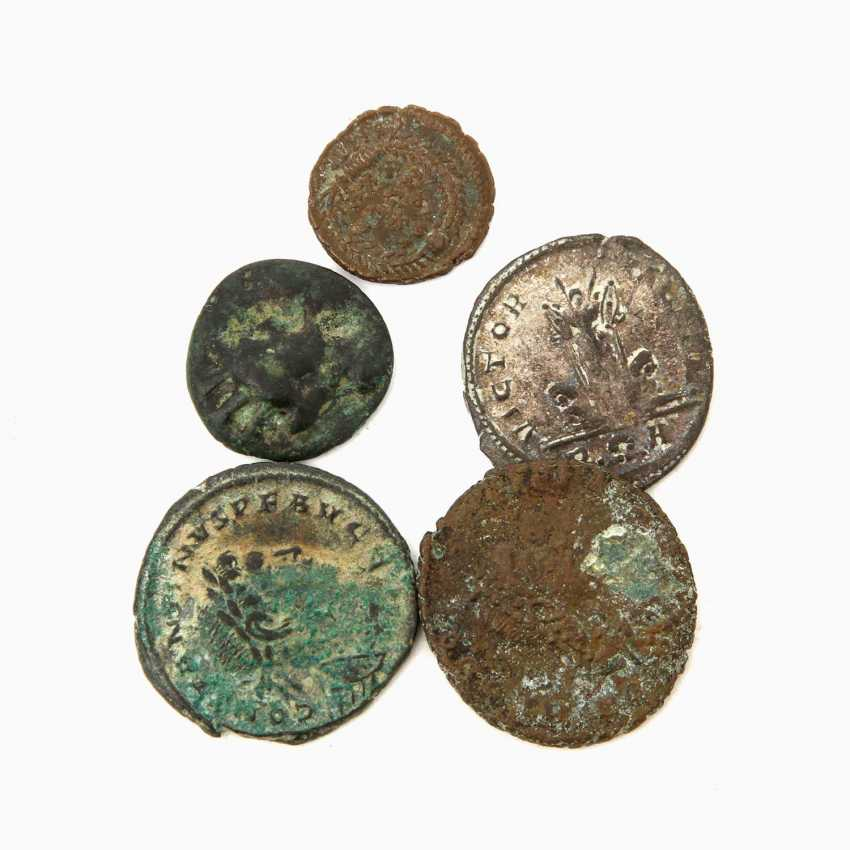 Antique -5 Small Coins, - photo 1