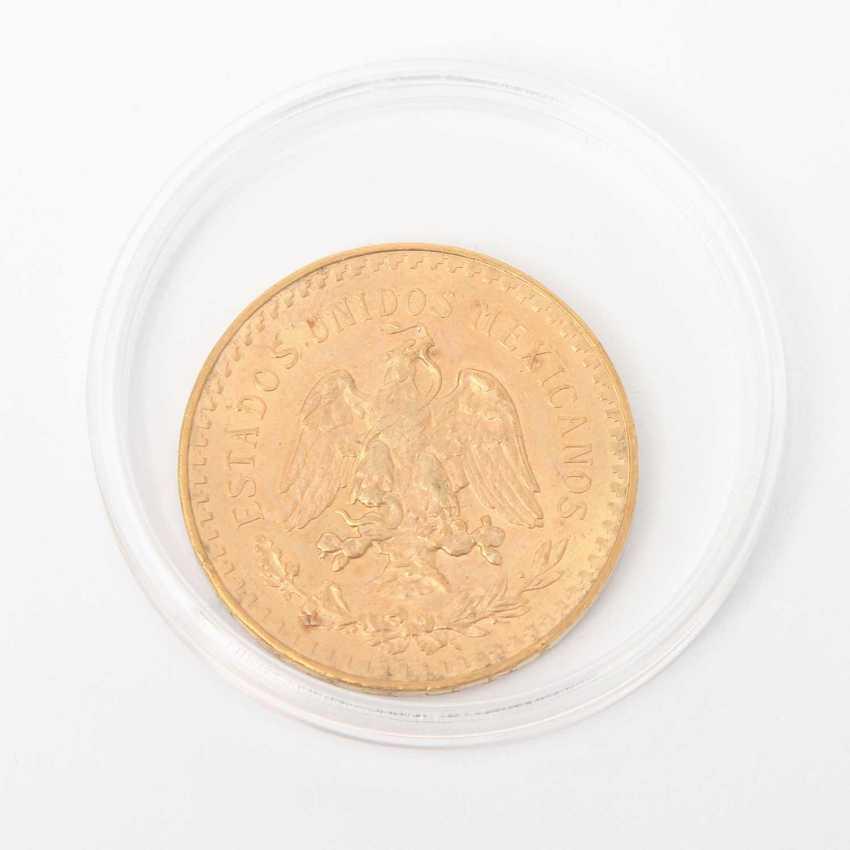 Mexico GOLD 50 Pesos 1947, Centenario, ss., part of Patina, minimal edge error, - photo 2