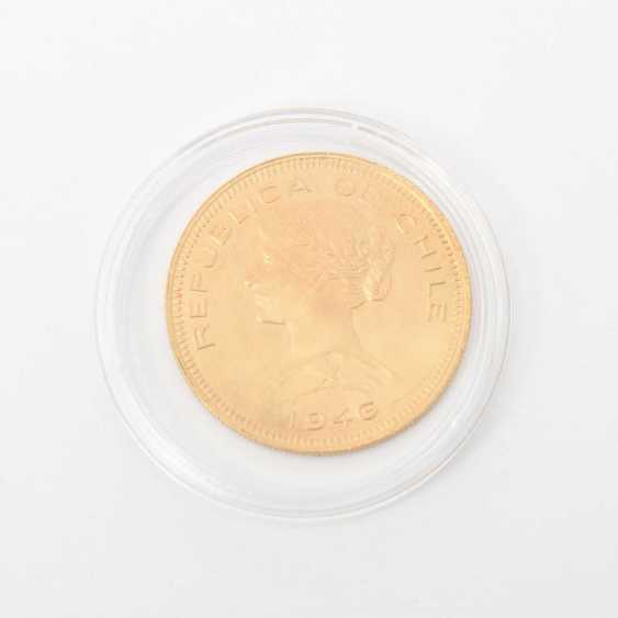 Chile /GOLD - 100 Pesos 1946, ss., small drill hole, - photo 1