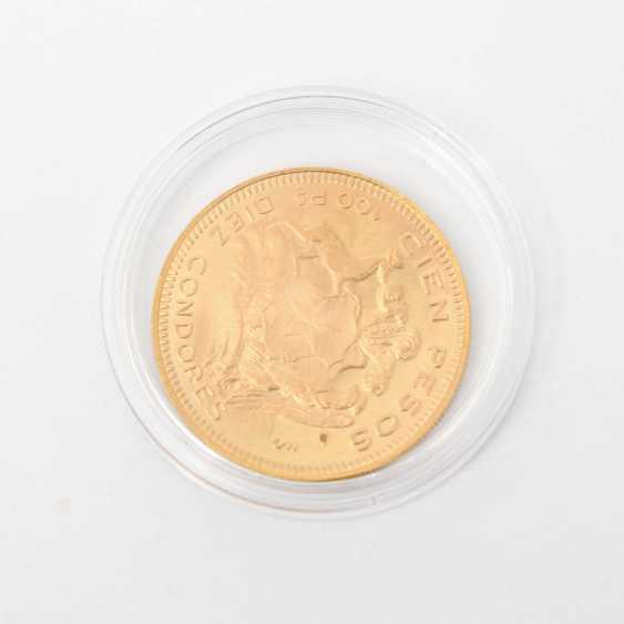 Chile /GOLD - 100 Pesos 1946, ss., small drill hole, - photo 2