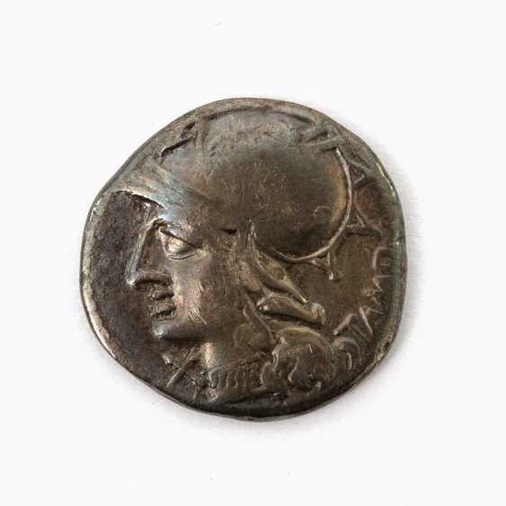 "3 Antiquity der "" Praise. Republic /Silber - 1 x "" Praise. Republic Denarius 104 v.Chr., - photo 3"
