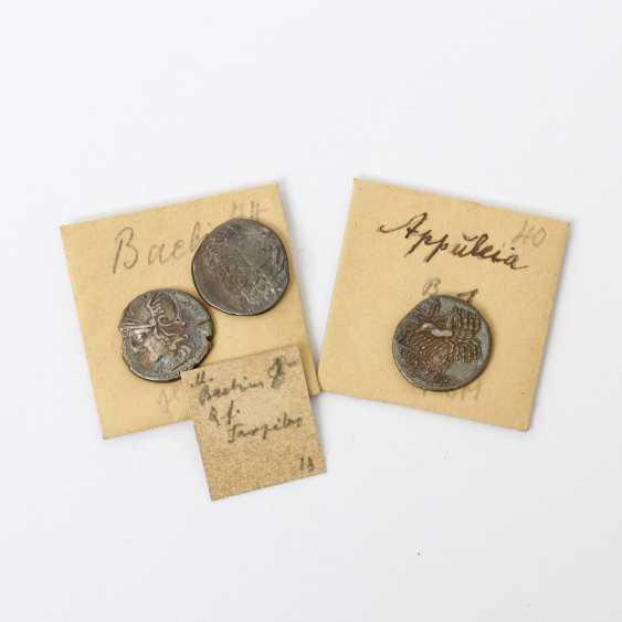 "3 Antiquity der "" Praise. Republic /Silber - 1 x "" Praise. Republic Denarius 104 v.Chr., - photo 6"