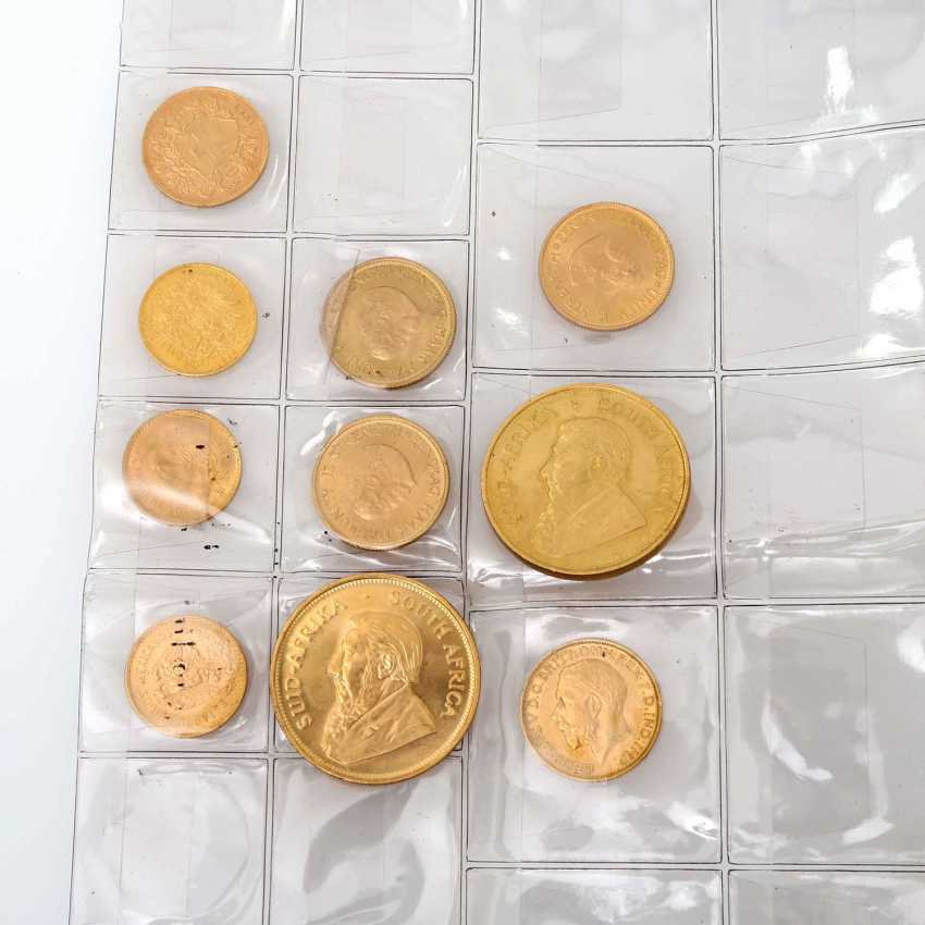 Gold solder with 2 ounces of Krugerrand, a total of approximately 107 g of finely, - photo 1