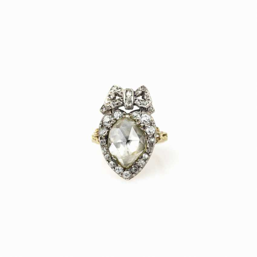 Antique heart shaped ladies ring - photo 1