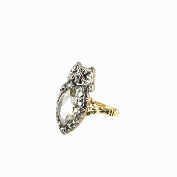 Antique heart shaped ladies ring - photo 3