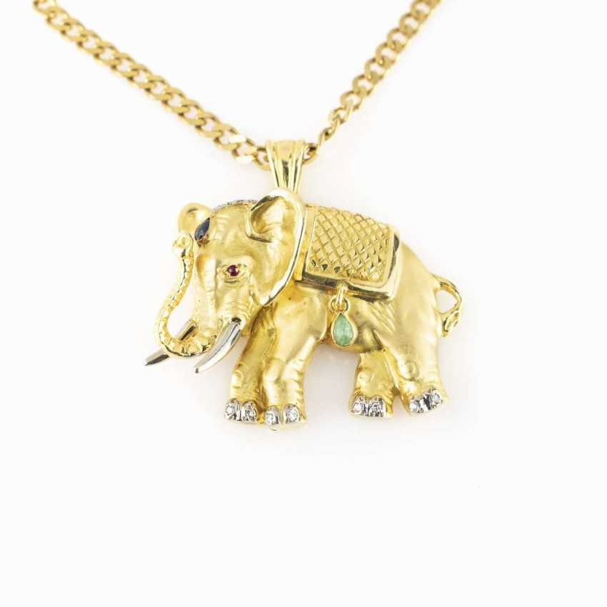 Necklace with an elephant pendant - photo 2