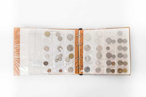 Ring book with coins from all over the world - course, coins from Belgium, Austria, Greece, - photo 1
