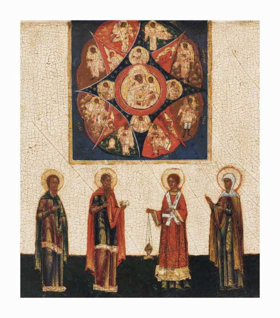 Icon 'Our Lady of the Incombustible Bush with 4 Saints' - photo 1