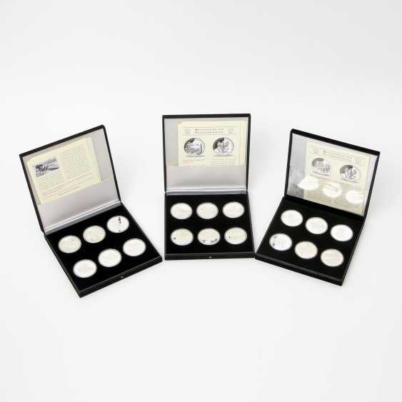"Chic assortment of silver medals to the subject of ""milestones in the post-carriage"" - - photo 1"