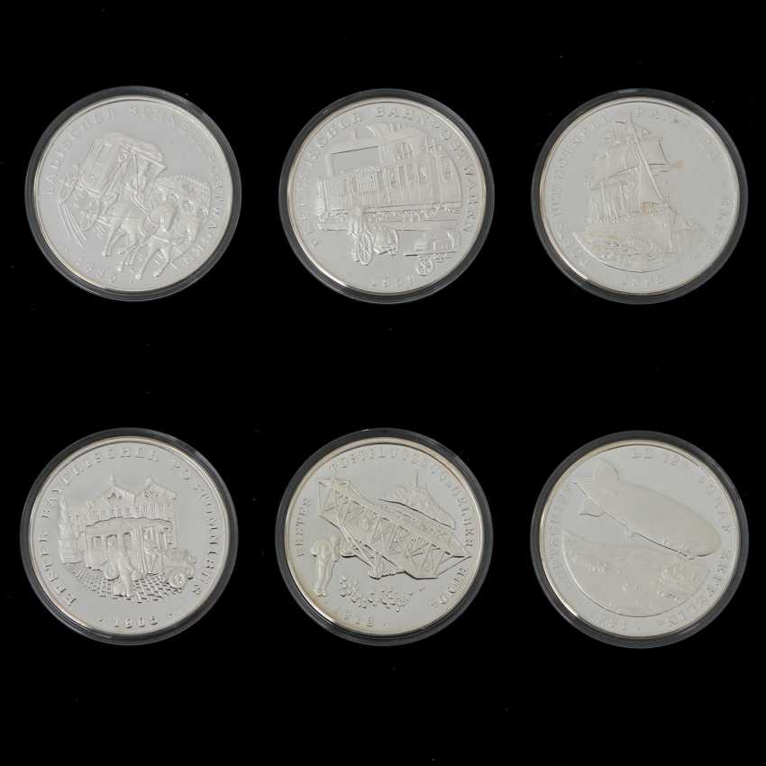 "Chic assortment of silver medals to the subject of ""milestones in the post-carriage"" - - photo 2"