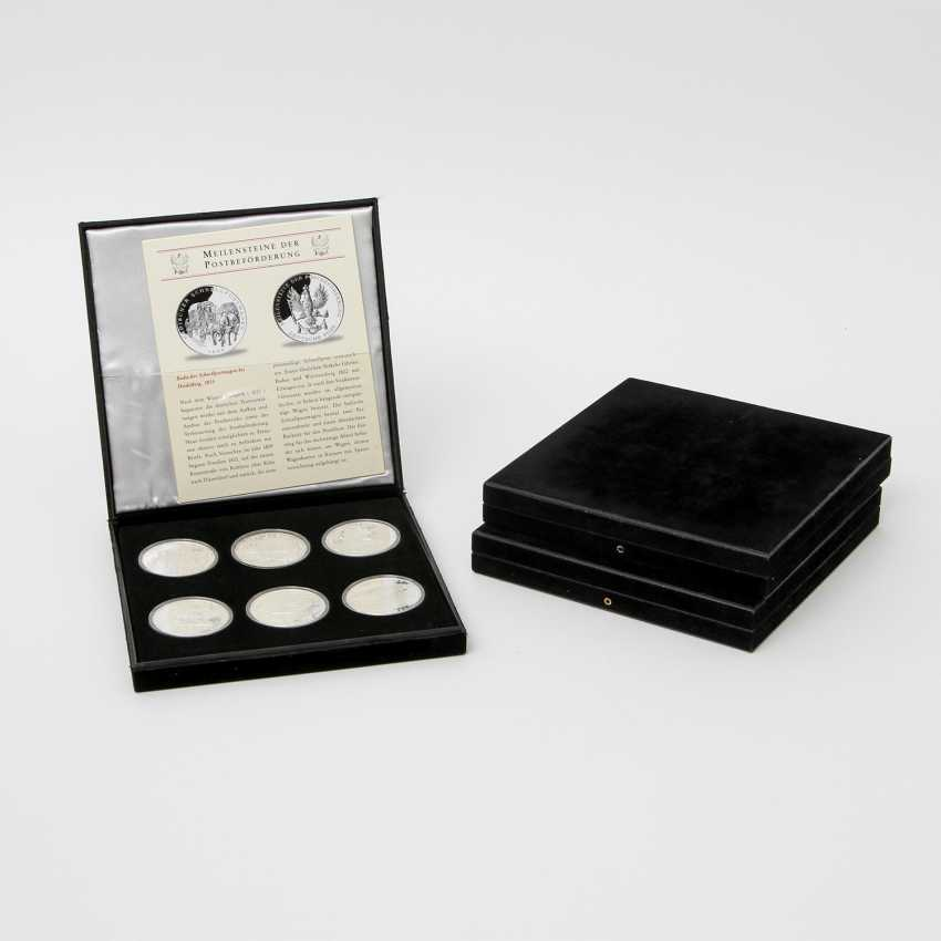 "Chic assortment of silver medals to the subject of ""milestones in the post-carriage"" - - photo 5"