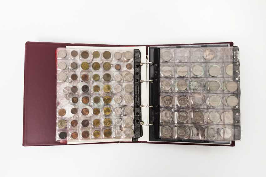 Lindner Album filled with coins Dt. Empire, third Reich and Federal Republic of Germany, - photo 1