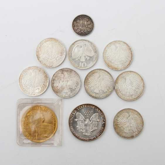 Small group of coins with GOLD and SILVER - 1 x Austria 4 ducats 1915 /NP, Franz Joseph, ss /vz., - photo 2