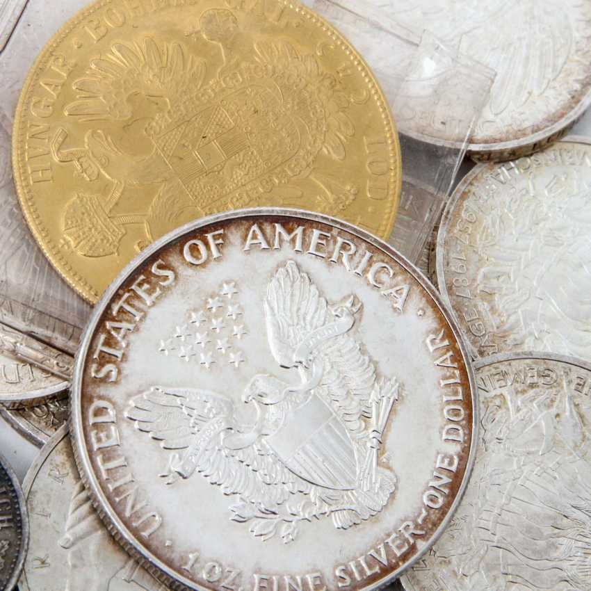 Small group of coins with GOLD and SILVER - 1 x Austria 4 ducats 1915 /NP, Franz Joseph, ss /vz., - photo 3