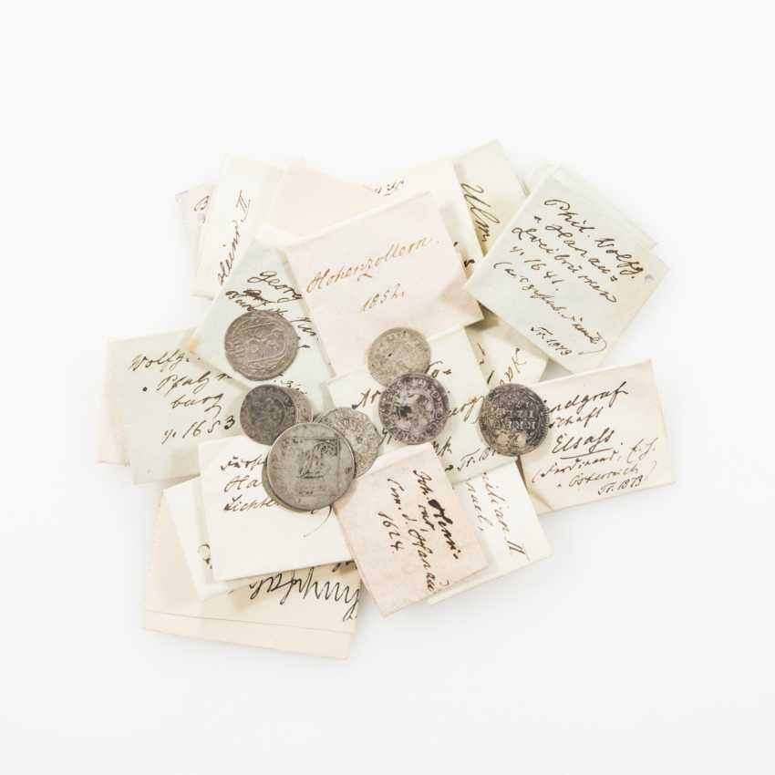 The South of Germany - mixed lot of 40 various small coins of the 17th century. /18. Century.: - photo 1