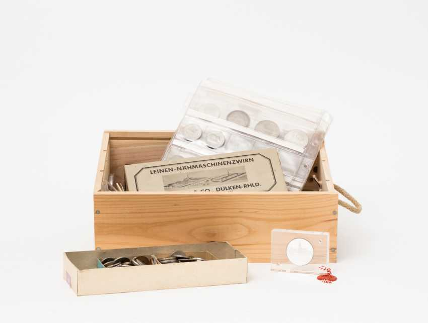 Wooden box with lots of coins, GOLD in your - photo 1