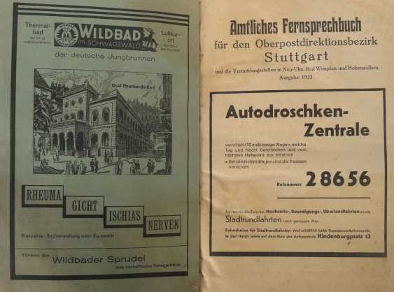 Official telephone directory for the Stuttgart Upper Postal Directorate - photo 2