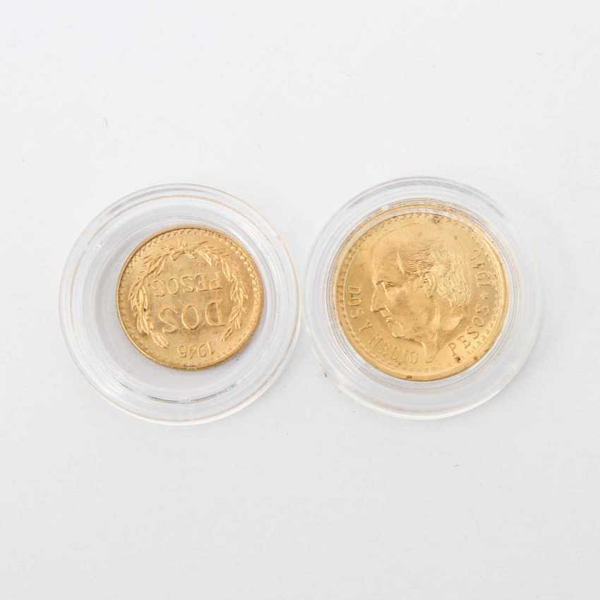 Nice compilation of Mexico in GOLD - consisting of: 1 x 10 Pesos 1959, ss-vz., slightly stained, 7.5 g of the GOld fine. - photo 3