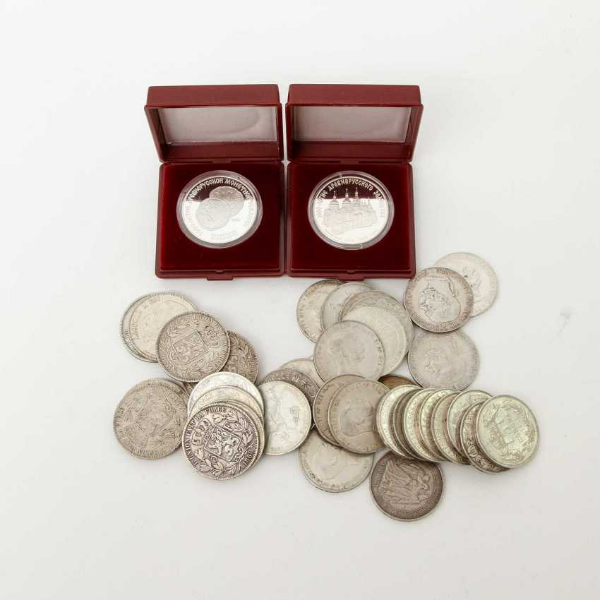 Small silver solder with Russia 2 x 3 rubles 1988, - photo 1