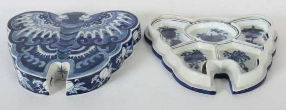 Lidded box as a butterfly China - photo 3