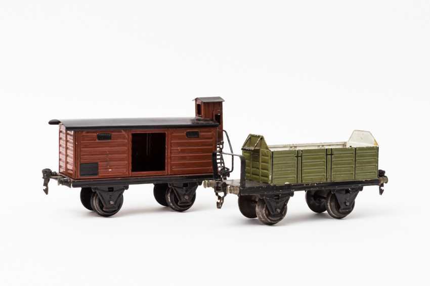 MÄRKLIN open and covered freight wagons, 1918 / in 1967, lane 1, - photo 1