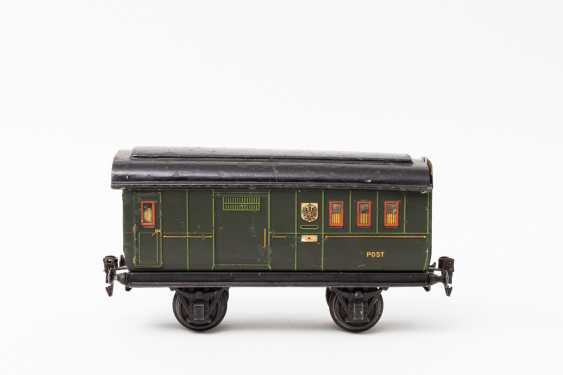 MÄRKLIN Post office / baggage car in 1903, and covered freight cars, in 1967, lane 1, - photo 3