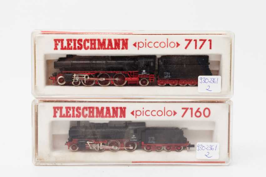 FLEISCHMANN PICCOLO, two t-tender locomotives 7160 / 7171, N, - photo 1
