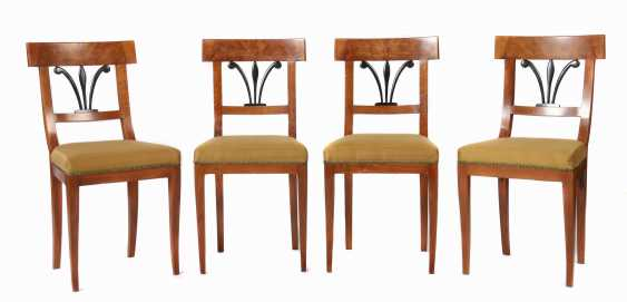 Set of 4 Biedermeier chairs, 2nd quarter of the 19th century - photo 1