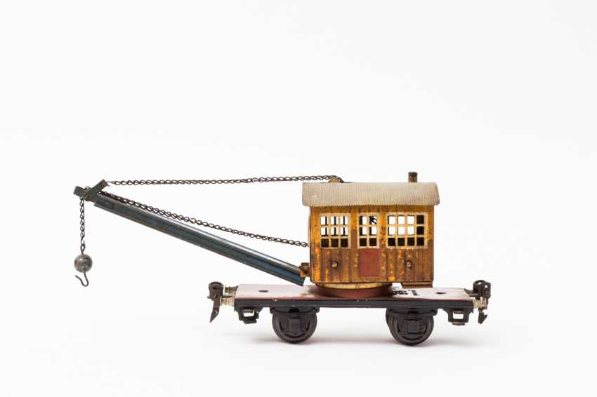 MARKLIN crane car in 1768, track 0, 1933-1939, - photo 1